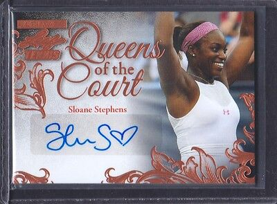 2015 Leaf Ultimate Tennis Queens of the Court Auto #QC-SS1 Sloane Stephens