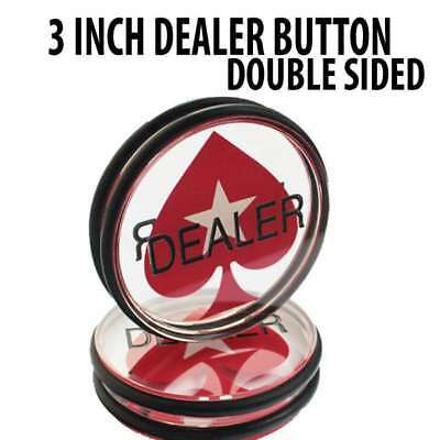 3 inch Poker Stars Acrylic Double Sided Dealer Button