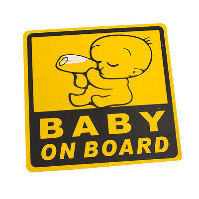 Car Exterior Baby on Board Safety Sign Sticker Decal 11cm x 11cm CP