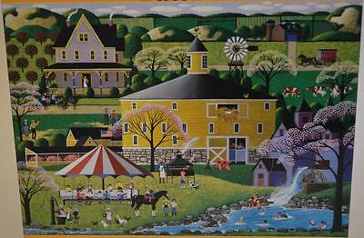 2003 Hometown Collection ~ The Round Barn ~ 1000 Piece Puzzle ~ New Sealed USA