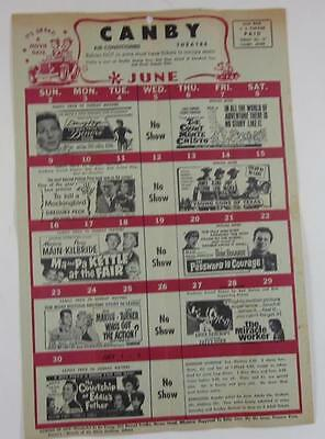 Canby Minnesota Theatre Mailer June 1963 To Kill A Mockingbird Miracle Worker