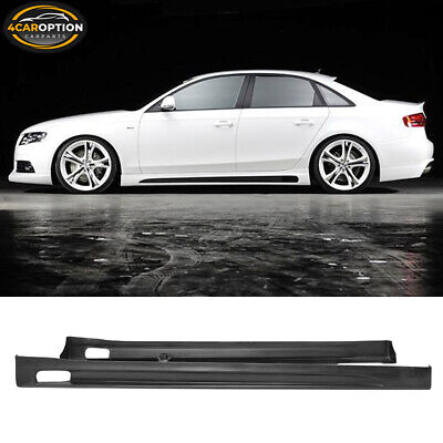 Fits Rg-Style Poly-Urethane Side Skirt Bodykit Black 09 10 11 12 Audi A4 Euro