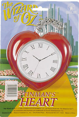 Morris Costumes The Wizard Of Oz Red Plastic New Tinman Heart Chain Clock. VA522