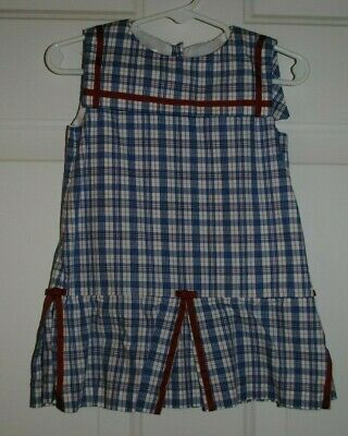 25fc6f05ae Strasburg Toddler Girl Dress Size 24 months Red White Blue 4th of July Cute!