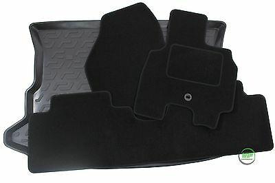 HYUNDAI TUCSON  2004- 2010 Tailored black floor car mats + boot tray mat
