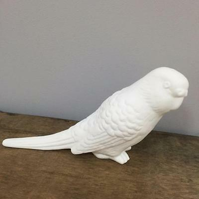 New WHITE BONE CHINA BUDGERIGAR 8cm High Bird Collector Gift Home Decor Budgie