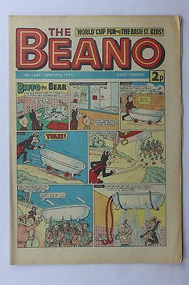 The Beano #1667 June 29th 1974 FN Vintage Comic Bronze Age Dennis The Menace