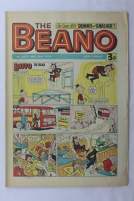 The Beano #1675 August 24th 1974 FN Vintage Comic Bronze Age Dennis The Menace