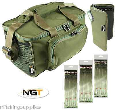Ngt green carp fishing stiff rig wallet with 20 pins for for Rigged fishing backpack