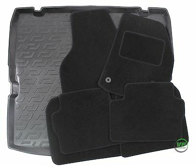 VAUXHALL ZAFIRA  B 2005-2011 Tailored black floor car mats + boot tray mat