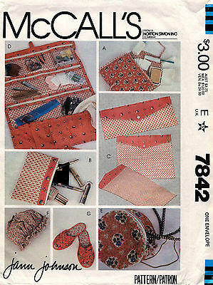 1980's VTG McCall's Travel Accessories Package Pattern 7842