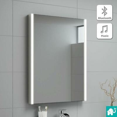 Wall Hung Illuminated LED Bathroom Mirror Cabinet with Bluetooth Speaker Sensor