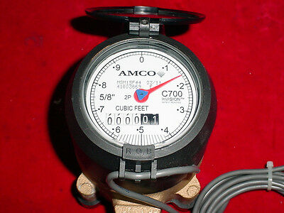 """Elster AMCO Cubic Feet C700 InVISION 5/8"""" Water Meter NEW OLD STOCK! #2"""