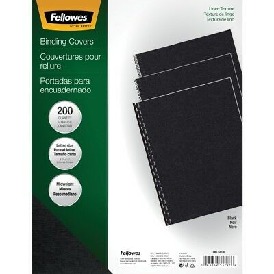 Fellowes Linen Unpunched Presentation Covers 5217001