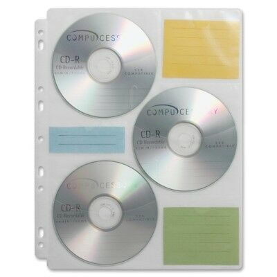 Compucessory CD/DVD Ring Binder Storage Pages 22297