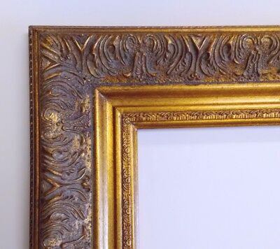Picture Frame- 8x10 Vintage Antique Style Baroque Old Gold Bronze Ornate #1360G