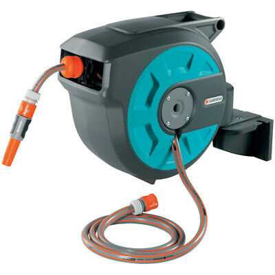 GARDENA COMFORT WALL MOUNTED HOSE 15 roll-up automatic 8022 15M hose