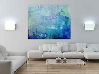 Abstract Blue Ocean Canvas Wall Art Print | Framed Ready to Hang Painting Prints