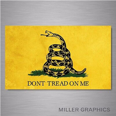 """Gadsden Flag """"Don't Tread On Me"""" Yellow Car decal sticker graphic - 3"""" x 5"""""""
