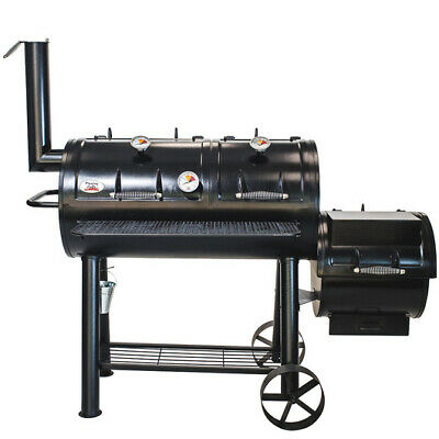 Flaming Coals Texas Offset Smoker & BBQ Grill 2 Year Warranty S/Steel Grills