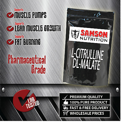 PURE CITRULLINE MALATE POWDER 500g PREMIUM QUALITY AMINO ACID ENERGY MUSCLE PUMP