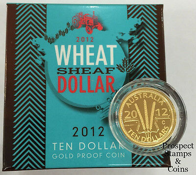 2012 Wheat Sheaf 'C' Mintmark Ten Dollar 1/10oz Gold Proof Australian Coin