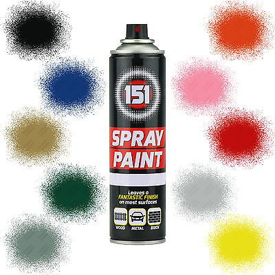 x2 Car Spray Paint Aerosol 151 Primer Matt Gloss Metallic Clear Lacquer 300ml