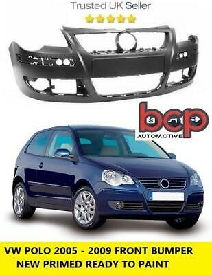 Vw Polo 9N3 2005-2009 Front Bumper New Primed Insurance Approved Tuv