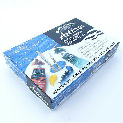 Winsor & Newton Artisan Water Mixable Oil Paint Beginners Set. Artists Painting.