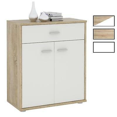 kommode shabby chic anrichte sideboard 2 t ren 2 schubladen wei braun schrank eur 54 90. Black Bedroom Furniture Sets. Home Design Ideas