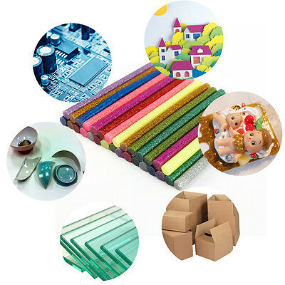 30pcs Glitter Colored Hot Melt Glue Adhesive Sticks 7x100mm for Soldering Iron