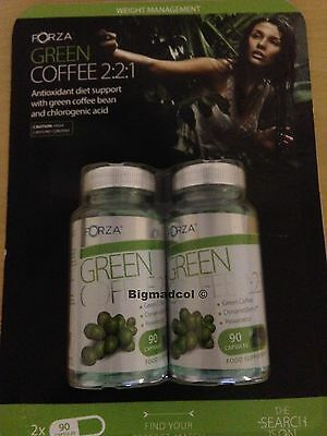 Forza Green Coffee 180 x diet weight loss slimming tablets pills 2 bottles Aug16