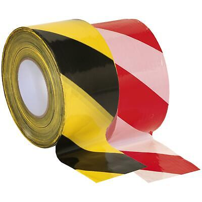 Sealey Safety Hazard Warning Barrier Tape Non Adhesive 80mm x 100m BTBY BTRW