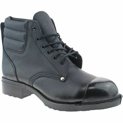 External Steel Toe Cap Work Grafters Leather Safety Boots Mens Size Uk 7- 12