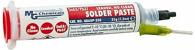 MG Chemicals 4860P-35G Solder Paste, Sn63/Pb37, No Clean
