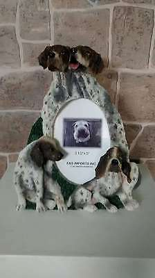 "German Shorthaired Pointer Picture Frame holds 3 1/2"" x 5"" New"
