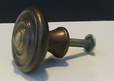 Vintage Bullseye Cabinet Knob Pull Dresser Drawer Hardware Antique Bronze Finish