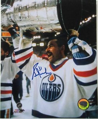Grant Fuhr Edmonton Oilers Signed/Autographed 8x10 Stanley Cup Photo SI