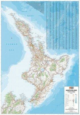 New Zealand North Island MAP (LAMINATED) POSTER (70x100cm) New
