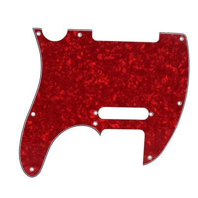 RED Pearl SCRATCHPLATE PICKGUARD FOR TELECASTER Tele 3 Ply 8 holes New