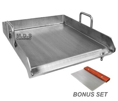 "Stainless Steel Flat Top Comal Plancha 18""x16"" inch BBQ Griddle Outdoors Tacos"