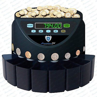 Coin Sorter Counter Machine Currency Auto Cash Change Money Counting Pounds GBP