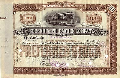 Consolidated Traction Company 1899