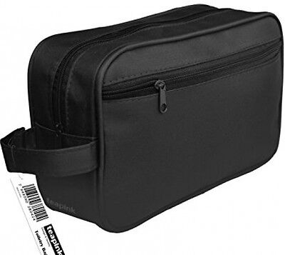 Mens Large Toiletry Bag, Wash Bag- Ideal For Travel, Holiday, Cosmetics UK