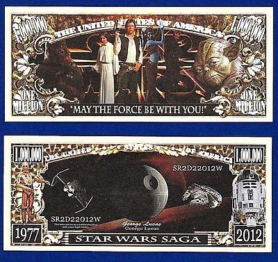 (2)Star Wars Million Dollar Bills NOVELTY  Collectible-- MONEY- ITEM -N1