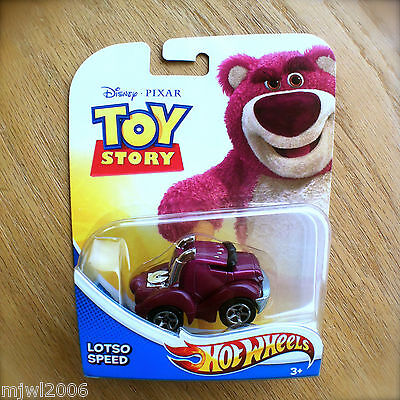 Disney PIXAR Toy Story LOTSO SPEED Hot Wheels diecast Mattel teddy bear bad guy