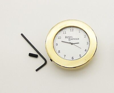 High Quality Brand New Solid Brass Royal Enfield Stem Nut Clock/white Dial Clock