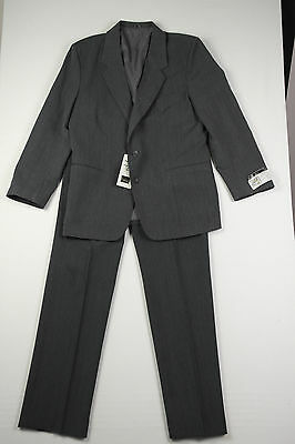 MENS Vintage 80s 2-Piece CHARCOAL FLECK Suit L PANTS 92CM / 36 BY FARAH  BNWT