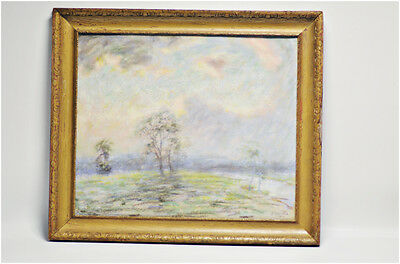 Antique American Abstract Impressionist Spicuzza  Pastel Painting