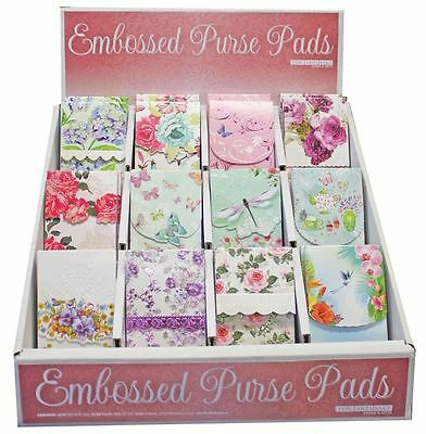 Carol Wilson Purse Pads Embossed Note Pad Assorted Magnetic 90 Sheets